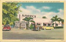 Sarres Drive-In Restaurant Ocala FL Postcard