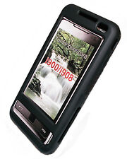 Crystal Funda móvil Funda Cover cáscara en negro para Samsung i900 i908 Omnia