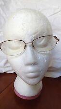Marchon Tres Jolie Eyeglasses 53-17 135 Ginger Breeze Spring Hinges Half Rimless