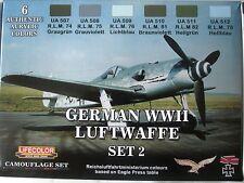 Lifecolor Acrylics LC-CS07 Luftwaffe WW2  Paints set 2