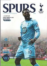 Tottenham (Espuelas) v Everton 2013-14 programa