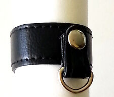 PU Leather Double Snap D Ring/erection aid