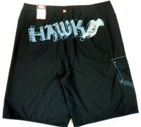 TONY HAWK Men's Black Beach Surfing Board Shorts Swimwear Trunk MSRP$36.00