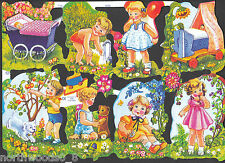 BABY CHILD IMAGES TODDLER SCRAP EMBOSSED UK TOYS PLAY  CARDS DECOPAGUE ART
