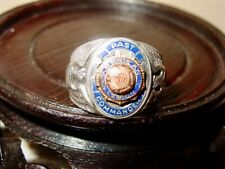 Vintage Sterling Silver American Legion Past Post Commander Ring Size 10&1/2