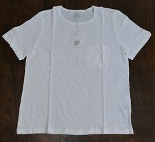Women's Other Stories white smooth cotton and linen pocket T-shirt $39 price Nwt