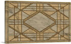 ARTCANVAS Art Deco Brown Tan Geometric Design Canvas Art Print