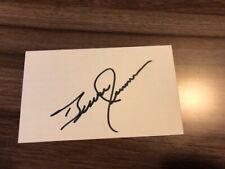 Bruce Jenner Signed Index Card Olympics Kardashians