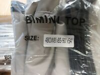 MSC 4 Bow Bimini Top Boat Cover with Rear Support Poles, Color: Grey Open Box
