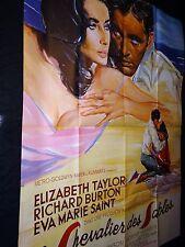 LE CHEVALIER DES SABLES elizabeth taylor richard burton  affiche cinema  1965