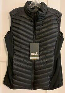 Jack Wolfskin Women's Atmosphere Down Vest, Black, Large