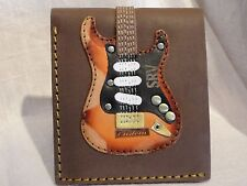 Stevie Ray Vaughan Guitar Wallet Leather Axe Heaven