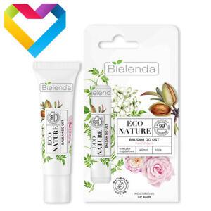 Bielenda Eco Nature Vegan MOISTURISING LIP BALM Almond Milk Jasmine Rose 10g