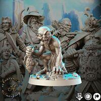 GOLUM scale 32mm The Lord of the rings (El señor de los anillos) LOTR DnD ROL