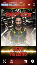 Topps WWE Slam Payback 2020 Seth Rollins Gold Signature Digital Card ICONIC