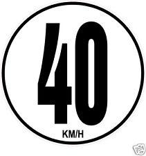 1 Limitation de Vitesse Autocars Tracteur Poids lourd 40KM/H adhésifs