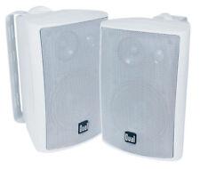Dual 200 Watts Weather Resistant Indoor/Outdoor 3-Way Speaker - White