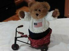 """New listing Vtg Boyds Bears Edmund 9175-18 Spring 2002 Patrotic Usa American Flag 8"""" W/Tags"""