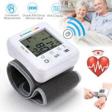 Dgital Automatic Wrist Blood Pressure Monitor Heart Rate Tester Measure Machine