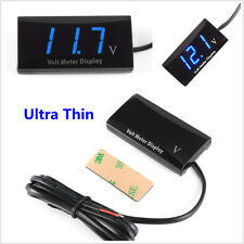 12V Ultra-Slim Digital Blue LED Display Voltage Meter Car Truck Voltmeter Panel