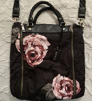 L.A.M.B. Women's Crossbody  Black Floral  Purse Gwen Stefani