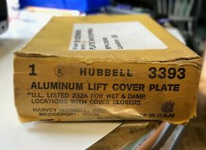 HUBBELL 3393 ALUMINUM WATERPROOF LIFT COVER PLATE NEW IN BOX