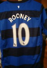 Manchester United Aon Soccer Jersey Blue Youth Large rooney