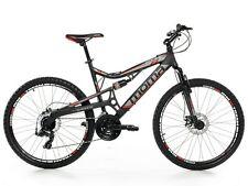"""Bicicletta Montagna Mountain Bike 26"""" MTB Allum. Shimano 24v 2xDisco Full Sosp."""