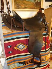 VISALIA SADDLE D E WALKER vintage western High back wade ranch roping trail