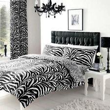 Parures et housses de couette noir coton mélangé pour chambre à coucher