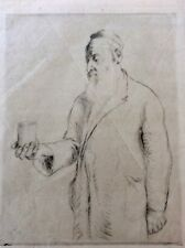 HERMANN STRUCK (1876-1944) , Original Lithograph, Old Man Beggar , Signed