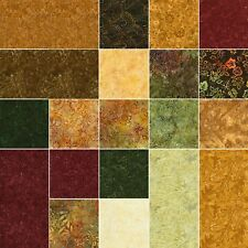 """Tonga Treats Mini~NUTMEG BATIKS~Timeless Treasures~40-5"""" SQUARES~""""CHARM PACK"""""""