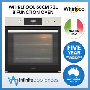 Whirlpool 60cm 73L 8-Function Smart Clean Built-In Oven (AKP9785IXAUS)