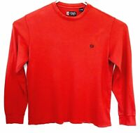 Chaps Men's Size XL Red Long Sleeve Pull Over Sweater 100% Cotton Comfort