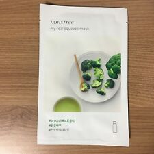 1 SHEET INNISFREE MY REAL SQUEEZE MASK PACK - BROCCOLI (SKIN CLEAR)