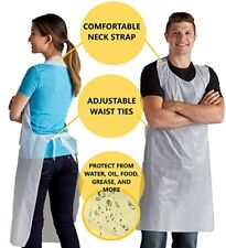 """New listing Qty 100: Magid Disposable Poly Aprons 28"""" X 45"""" Large White Protective Food Art"""