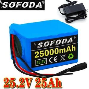24V25AH Li-ion Battery Volt Rechargeable Bicycle E Bike Electric + Charger