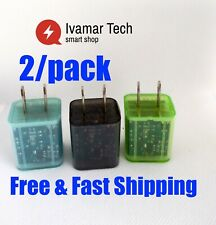 wall charger with light emitting color double USB       2/PACK