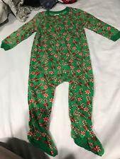 Leveret Toddler Christmas Fleece Footed Sleeper Pajamas Size 2