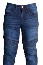 es hommes Moto slim jeans élastique JEANS PANTALON protection revêtement