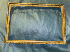 Vintage Art Deco Wood Picture Frame Carved Gold Fits 10 1/4� X 6 7/8� Picture