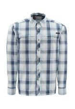 Simms STONE COLD Long Sleeve Shirt ~ NEW Mist Plaid  ~ Small ~ CLOSEOUT