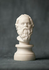MARBLE bust of Philosopher Socrates carved statue figurine artist sculpture