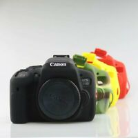 Silicone Rubber Armor Skin Case Camera Cover Protector Bag For Canon EOS 750D