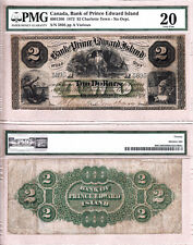 1877 $2 The Bank of PEI, 600-12-08. PMG VF20