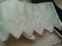Vintage Satin Edging Rayon Remnant Salvage Pc Textiles Supply Sewing