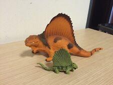 Dinosauro Jurassic Park Dimetrodon Con Cucciolo Rari Da Collezione