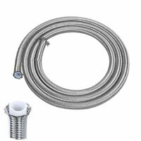 4/6/8/10/12AN Braided PTFE Fuel Hose E85 Oil Gas Line Stainless Steel Braided