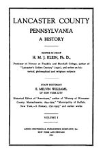 Lancaster County, PA History & Biography Collection - Genealogy References