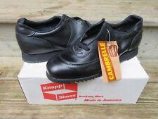 NOS Knapp Shoe All Black Sport Athletic Sneaker 10D VTG Black Leather Vibram